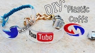 ♡DIY: School Pride Plastic Cuffs {Back To School} - YouTube