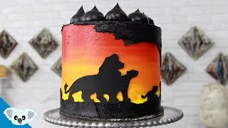 The Lion King Silhouette Cake | Birthday Party Ideas| Cake Art | Koalipops