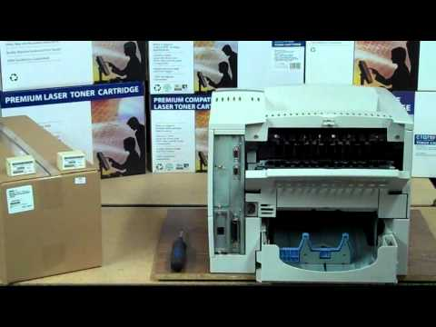How To change the Fuser and Pickup Roller on an HP Laserjet 4000