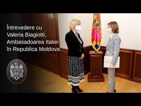 Президент Майя Санду провела прощальную встречу с Послом Италии в нашей стране Валерией Бьяджотти