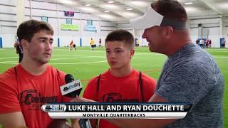Montville QBs Luke Hall and Ryan Douchette