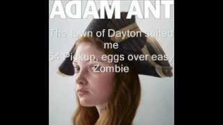 Adam Ant - Cool Zombie Lyrics