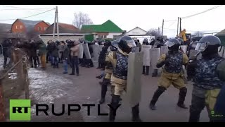 Tula Russia  City new picture : Russia: Riot police clash with Roma protesting gas lines in Tula