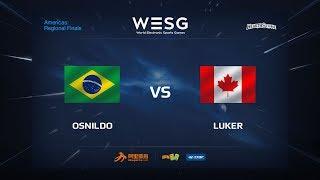 Luker vs Osnildo, game 1