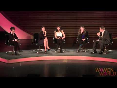Members of Pussy Riot tell a Women in the World audience about their jail time and their determination to continue opposing Putin's authoritarianism.