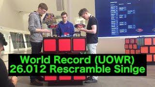 Nonton Rubik S Cube Rescramble World Record Single   26 012 Seconds Film Subtitle Indonesia Streaming Movie Download