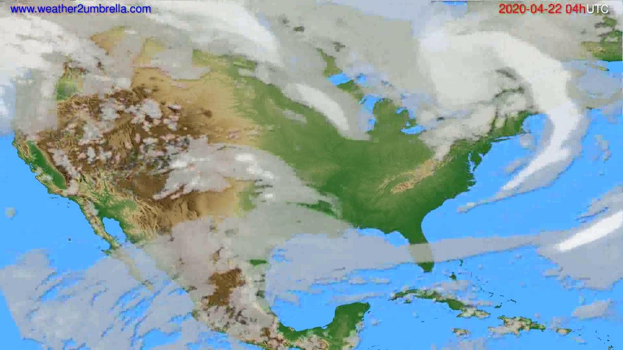 Cloud forecast USA & Canada // modelrun: 12h UTC 2020-04-21
