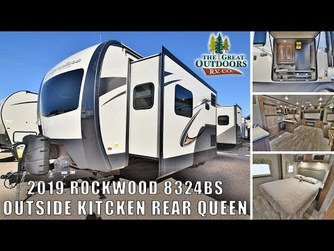 New 2019 8324bs Rockwood Signature Ultra Lite Outside Kitchen RV Greeley Colorado