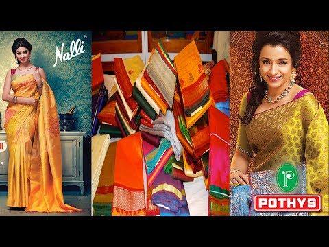 Video Best Kanjeevaram Silk Saree in Chennai(india) || Buy from Nalli Silks&Pothys Boutique || download in MP3, 3GP, MP4, WEBM, AVI, FLV January 2017