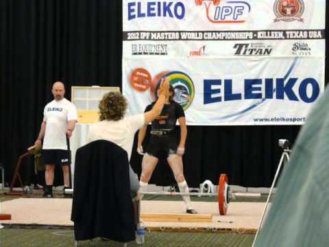 Nathalie FERAUD Powerlifting World Champion 2012 Master1 47kg Killleen Texas 140kg Deadlift