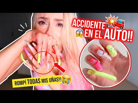Videos de uñas - 24 HORAS CON UÑAS EXTRA LARGAS!!!  ACCIDENTE DOLOROSO! TERMINA MAL!  Katie Angel