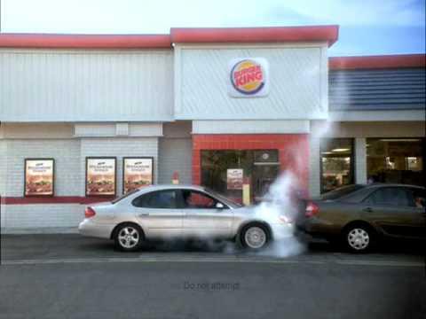 Burger King Steakhouse Commercial - Guy Rams Car