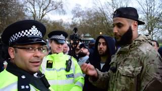 Video You cant pray! Muhammad Hijab & Police | Speakers Corner | Hyde Park MP3, 3GP, MP4, WEBM, AVI, FLV Januari 2019