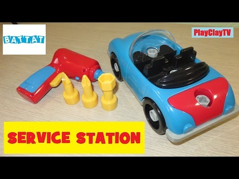 Battat Car toys Cars funny video car service station Educational Toys for Toddler PlayClayTV