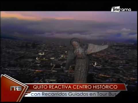 Quito reactiva centro histórico con recorridos guiados en Tour Bus