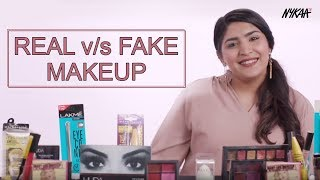 REAL V/S FAKE Makeup | Ft. Shreya Jain