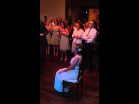 Singing to bride