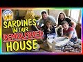 Download Lagu SARDINES IN OUR DEMOLISHED HOUSE! | HIDE AND SEEK | We Are The Davises Mp3 Free