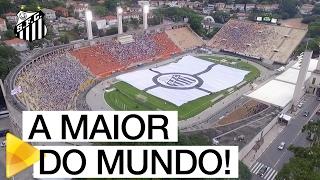 O MAIOR DO MUNDO E A MAIOR BANDEIRA DO MUNDO! No Pacaembu, o Peixe apresentou a maior bandeira de um clube de futebol do mundo! Confira ...