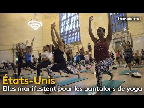 Etats-Unis : elles manifestent pour défendre... les pantalons de yoga - franceinfo: