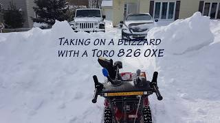 6. Toro 826 OXE taking on the aftermath of the Blizzard in Halifax.