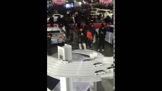 In retrospect I can't believe I didn't do more with this. They had a pretty cool booth which was two stories and have small slot RC's racing and 3D helmets to use. Video is awful lol!!