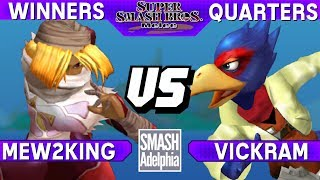 This Super Smash Bros. Melee tournament match features Mew2King as Sheik vs Vickram as Falco. This Winners Quarters match at SMASHADELPHIA 2017 was livestreamed on 06/24/17.Enjoy the video? Hit the like button and drop a comment and let us know your favorite part. Share it with your friends and spread the hype!Check out our website:► http://clashtournaments.comWatch our live streams:► http://twitch.tv/clashtournaments► http://hitbox.tv/clashtournamentsFind us on social media:► http://facebook.com/clashtournaments► http://youtube.com/clashtournaments► http://twitter.com/clashtournament► http://instagram.com/clashtournamentsBe sure to Follow and Subscribe to us to keep up to date on all of our content. Click the bell next to the subscribe button to receive instant notifications on all uploads!