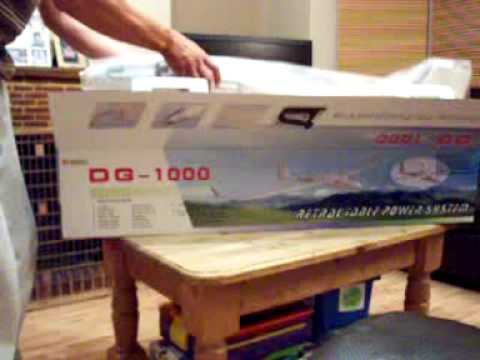 DG1000 rc - Here is my new Rc DG 1000 glider out of the box vid, can't wait to get her down the field for a fly! Great looking plane.
