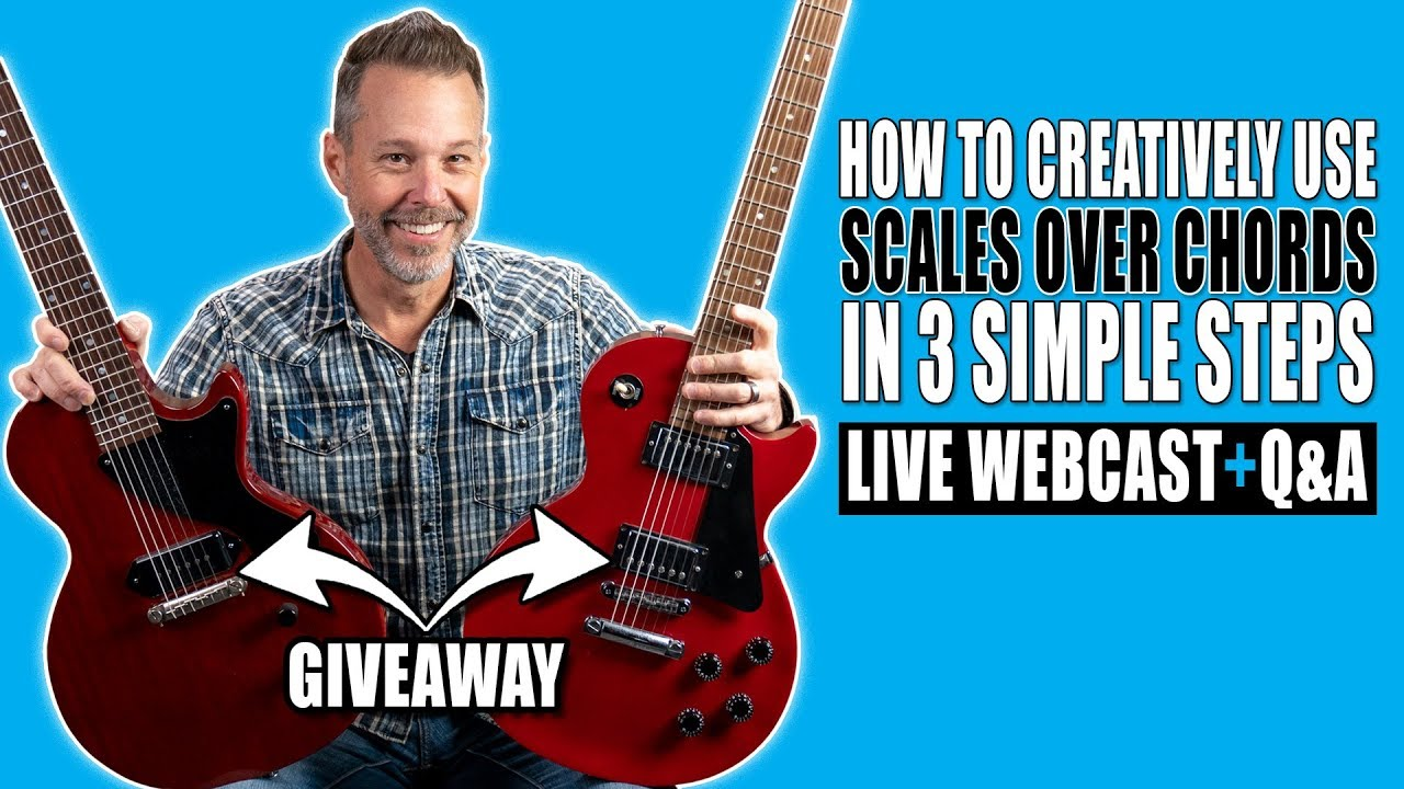 How To Creatively Use Scales Over Chords In 3 Simple Steps (2 Les Paul Giveaway)