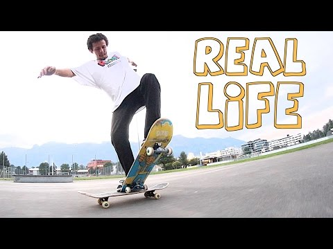 Swiss Skateboarder Attempts Tricks from the Tony Hawk s Pro Skater Video Game in Real