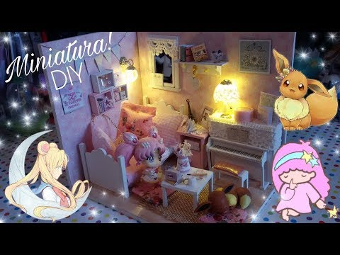 Costruiamo una Casa per le Bambole in Miniatura!!! Diy camera Dollhouse miniature kawaii Pink!!!