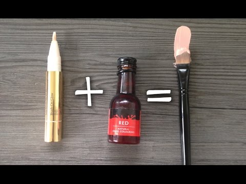 concealer - 5 DIFFERENT WAYS TO APPLY CONCEALER https://www.youtube.com/watch?v=CUEtCNrhBeY Red or Orange food dye mixed with concealer = corrector! Costs almost nothing and works fantastically well :)...