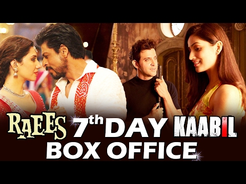 RAEES Vs KAABIL - 7th DAY BOX OFFICE COLLECTION - Early Trends - GOOD HOLD