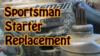 9. DIY How to Replace a Polaris Sportsman ATV Starter Motor No Clutch Removal Required