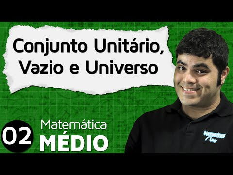 Conjunto Unitário, Conjunto Vazio e Conjunto Universo | MEM #2