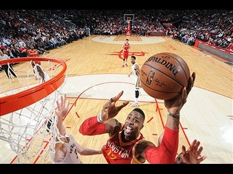 Dwight Howard Clears the Lane for the Poweful Jam