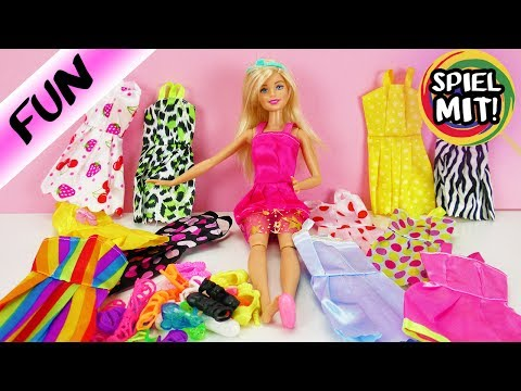 BARBIE 12 Kleider 12 Paar Schuhe | Best of Modenschau Favoriten | Spiel mit mir Kinderspielzeug