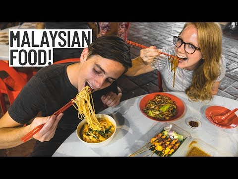 Malaysian Street Food Tour, SO DELICIOUS! (Americans Try Malaysian Food) - Kuala Lumpur