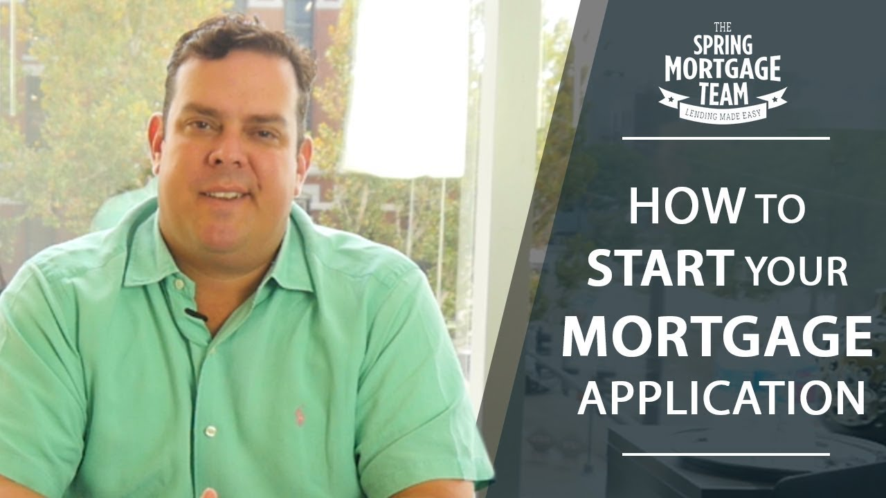 A Quick Look at How to Start the Mortgage Process
