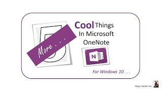 More Cool Things In OneNote For Windows 10