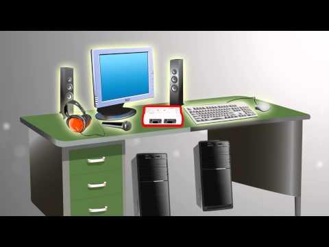 TRENDnet 2-Port USB KVM Switch Kit with Audio TK-209K