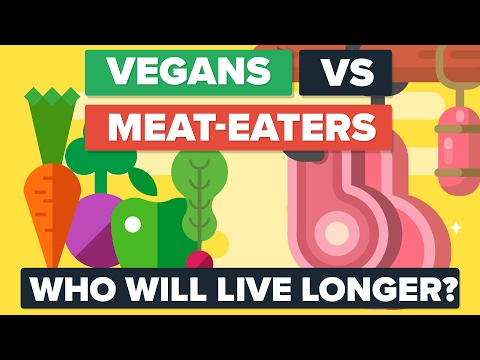 VEGANS vs MEAT EATERS – Who Will Live Longer? Food / Diet Comparison