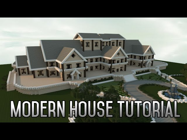 Minecraft insane modern house tutorial part 1 xbox pc 2015 for Modern house tutorial xbox