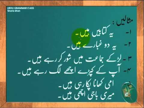 urdu arabic grammar class - Primary Grammar- Hai or hain ka farq.