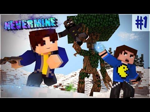 Minecraft: Nevermine #1 - НОСТАЛЬГИЧЕСКАЯ ТРОЙКА (трэш и угар)