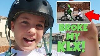 7. I LOOPED OUT MY NEW KLX 110 AND BROKE IT!