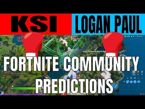 I asked Fortnite Players? KSI VS LOGAN PAUL 2  PREDICTIONS