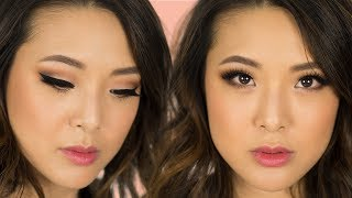 """I've had SO MANY of you guys asking for this one! Here's my tutorial on how to do a cut-crease eyeshadow look which is soft, wearable, and that anyone can do, no matter what your eye shape is. Hit LIKE if you want to see more makeup tutorials!Follow Jen on Instagram! ▶▶ http://instagram.com/frmheadtotoe__▶▶ Watch more of Jen's videos ◀◀BoA """"Game"""" MV INSPIRED CUT CREASE TUTORIALhttps://youtu.be/jcPy9DUWyMoMAY VLOG  Dior Runway, Aria's Photoshoot, Ice Creamhttps://www.youtube.com/watch?v=xdb53JQc2lQ&index=14&list=PL126DFD787D41C7ABMAY FAVORITEShttps://youtu.be/KMhOmnlO9xIELECTRIC SKINCARE FACIAL?!https://youtu.be/KOYyn0w0W2M10 SECRETS NOBODY TELLS YOU ABOUT BABIES w/ Molly Simshttps://youtu.be/FtbZ4cmGhC0__▶▶ PRODUCTS USED ◀◀FOUNDATIONKoh Gen Do Aqua Foundation in 123http://bit.ly/2mygYrWEYEBROWSBenefit Precisely My Brow in 3http://bit.ly/2oRnPhYLIPSLancome Juicy Shaker in Wonder Melonhttp://bit.ly/2qOuabJEYESHADOW PRIMERUrban Decay Anti-Aging Primer Potion http://bit.ly/2mdxdXKEYESHADOWAnastasia Beverly Hills Modern Renaissancehttp://bit.ly/2iV4hq4EYELINERStila Stay All Day Eyelinerhttp://bit.ly/2oiR7SoMASCARASmashbox Full Exposure Waterproof Mascarahttp://bit.ly/2nKBB54LASHESEsqido UnforgettableUse code HUGS for 10% off!http://bit.ly/1pILomnBRONZER/BLUSHToo Faced Sweet Peach Glow Highlighting Palettehttp://bit.ly/2oRnmwg__▶▶ COUPON CODES ◀◀ESQIDO Lashes:Click here http://bit.ly/1pILomn and use code HUGS for 10% off!Sigma Brushes: Click here http://bit.ly/tYs9c4 and use code FRMHEADTOTOE to get 15% off your entire order!__▶▶ FOLLOW JEN ◀◀My Blog: http://www.frmheadtotoe.com Instagram: http://instagram.com/frmheadtotoeFacebook: http://facebook.com/frmheadtotoeTwitter: http://twitter.com/frmheadtotoe Snapchat: frmheadtotoeSubscribe to my 2nd channel! http://youtube.com/frmjen__Disclaimer: This video is not sponsored by any of the companies mentioned. Some of the links above are affiliate links. Thanks for your love & support! :)"""