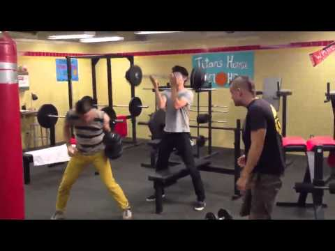 Darren Criss, Harry Shum Jr & Mark Salling: Best workout ever.
