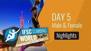IFSC World Youth Championships Guangzhou Highlights Male Speed Finals by International Federation of Sport Climbing